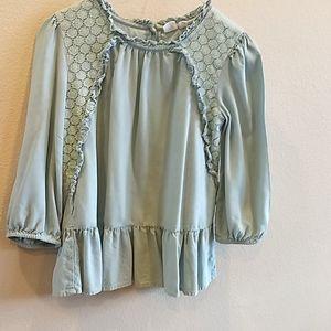 Girls GAP peplum blouse